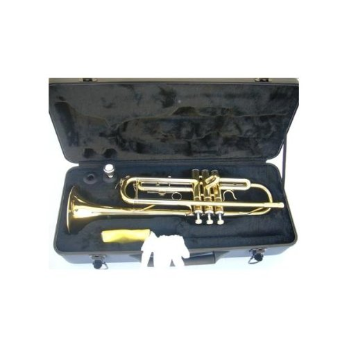 New GOLD/SILVER Concert Band Trumpet w/Case.Approved+Warranty