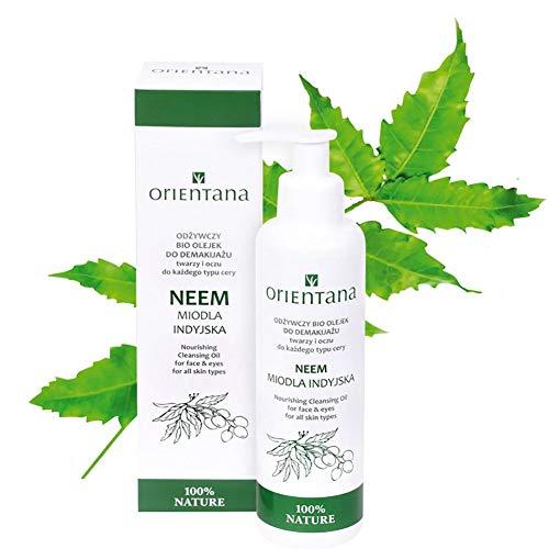 Orientana - Neem-Öl für Gesichtshaut - 100% Veganes - 99% Natürliches - entfernt wasserfestes Make-up und Verunreinigungen - wirkt entzündungshemmend, 150 ml