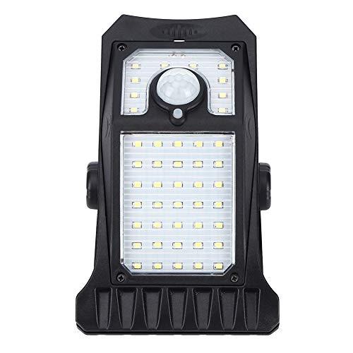 Lámpara de pared solar para exteriores, lámpara de calle solar Dusk to Dawn, luz de sensor de movimiento LED inalámbrica, IP65 a prueba de agua con 2 sistemas de sensores y 3 modos de instalación para
