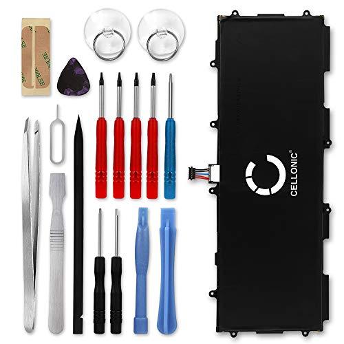 CELLONIC® Premium Akku kompatibel mit Samsung Galaxy Tab 10.1 / Galaxy Tab 2 10.1 / Galaxy Note 10.1 inkl. Werkzeug-Set (7000mAh) SP3676B1A Ersatzakku Batterie Tabletakku