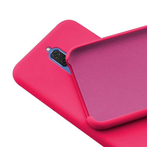 N NEWTOP Custodia Cover Compatibile per Huawei Mate 10 Lite, Ori Case Guscio TPU Silicone Semi Rigido Colori Microfibra Interna Morbida (Fucsia)