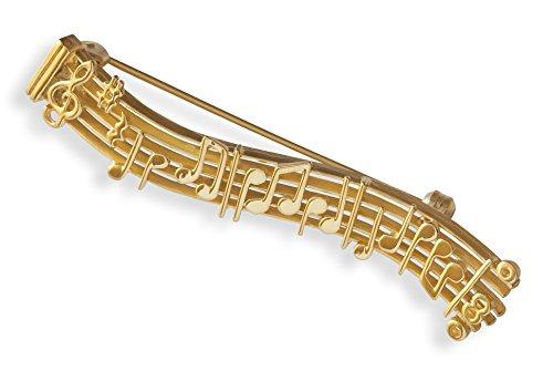 Argent Massif 925 Plaqu/é Or 23,5 Carats Pendentif Guitare Classique Instrument de musique Bijou Cadeau musique