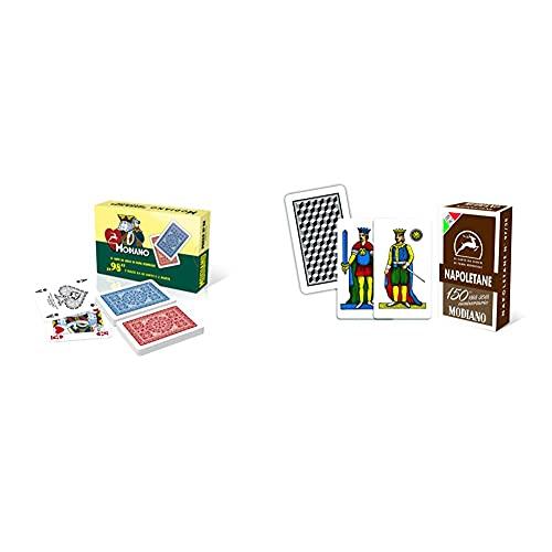 Modiano Poker 98 - Carte Da Poker Italiane & - Carte Da Gioco Del 150° Anniversario, Colore Napoletane Marroni, 300082