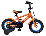 Amigo Sports - Bicicleta Infantil de 12 Pulgadas - para niños de 3 a 4 años - con V-Brake, Freno de Retroceso, Timbre y ruedines - Naranja