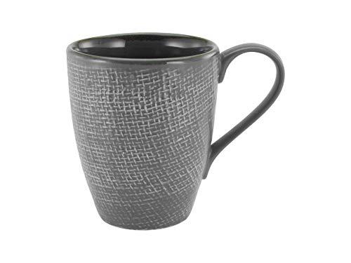 Creatable, 23080, Serie CANVAS, Geschirrset, Kaffeebecher 6 teilig, anthrazit, Steinzeug