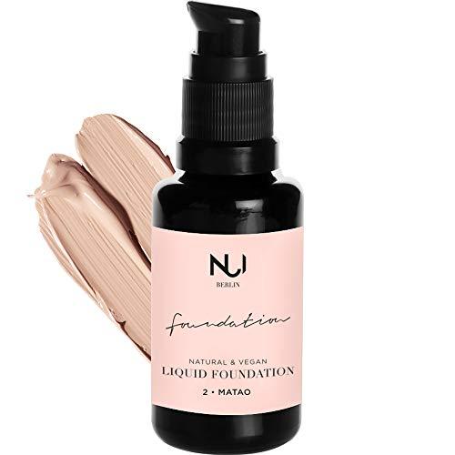 Naturkosmetik vegan natürlich glutenfrei Natural Liquid Foundation 02 MATAO Make Up mit kühlem hellem Farbton