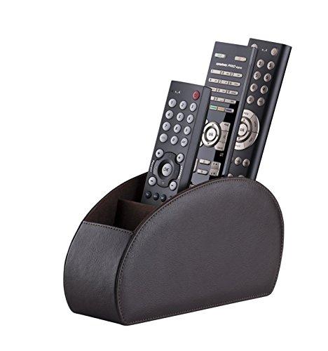 Connected Essentials Fernbedienungshalter Halterung für Fernbedienung, Braun, 5 Fächer für TV, DVD, Blu-Ray-Fernbedienungen — CEG10 Brown