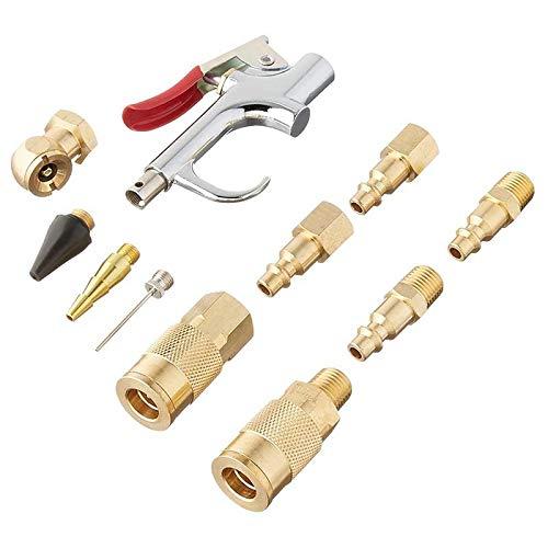 ACAMPTAR 12 Piezas de Accesorios de Soplador, Boquilla de Inflador Pin de Bola Pin de Aire Pin y Conector/Enchufe Tipo M