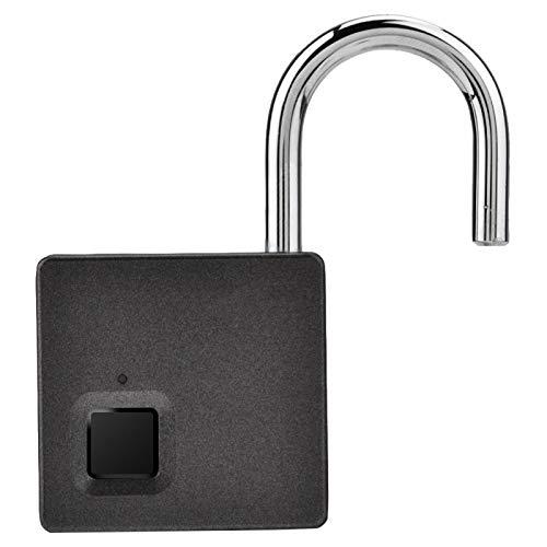 Fingerprint Padlock, Dustproof Zinc Alloy Security Digital Lock, Portable Drawer for Suitcases Doors Cabinets(Golden)
