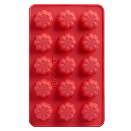 Silicone Chocolate Mold 2/Pkg-Flower