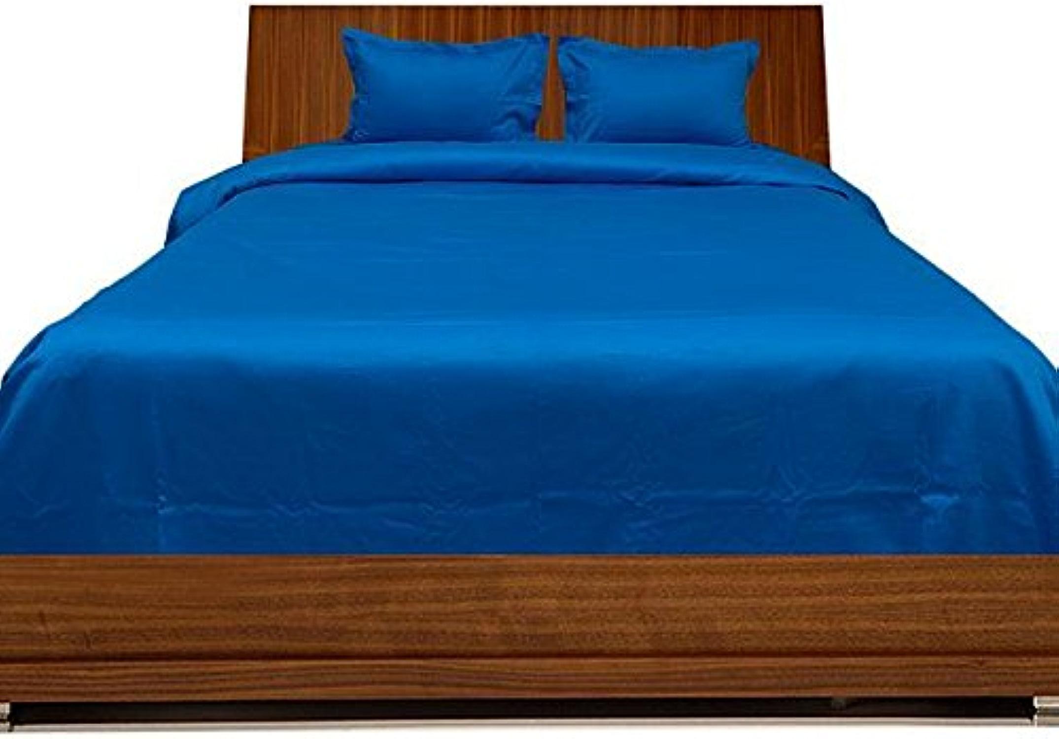 Scala 550Fils de lit avec Une taie d'oreiller Euro King IKEA Turquoise Bleu Sarcelle Solide 100% Coton 550tc Parure de lit en Coton égypcravaten