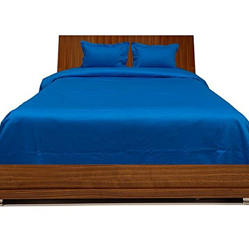 Super Suave algodón Egipcio 450Hilos 1pieza edredón 300gsm Euro Rey IKEA Azul Turquesa Azul sólido 100% algodón 450TC