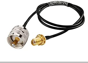 MPD Digital USA Made RG58 RG-58 RF 50 Ohm Coaxial Cable with UHF PL259 Male and SMA Female Bulk-Head Connectors, 4 Ft.