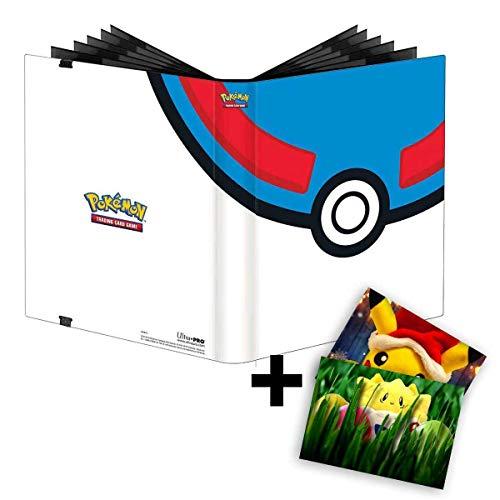 Lively Moments Pokemon Karten / Sammelkarten PRO-Binder in Superball Optik mit 360 Fächer / Album / Sammelordner + GRATIS Grußkarte