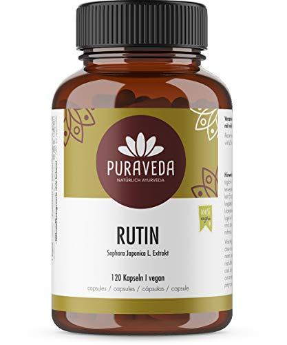 Rutin hochdosiert - 120 Kapseln - 95% Rutin - 550mg Sophora japonica L.- Japanischer Schnurbaum - Top Dosierung - vegan - hergestellt und kontrolliert in Deutschand