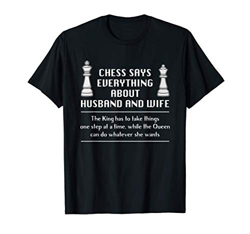 Cita Ajedrez Marido Esposa Pareja Casada Matrimonio Camiseta
