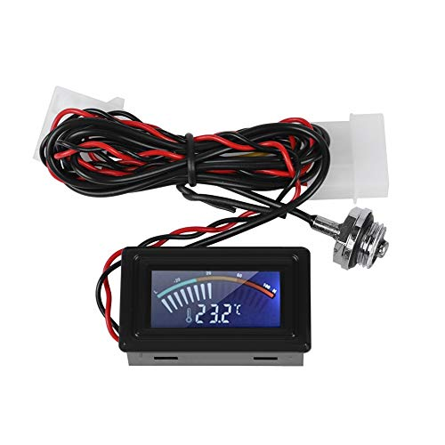 Wasserkühlungs-Zeigeranzeige, Thermometer-Temperaturdetektor mit wasserdichter Sonde für alle G1/4-Gewinde-Wasserkühlungsgeräte