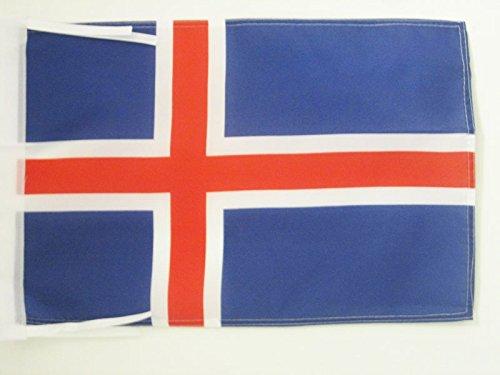 AZ FLAG Flagge Island 45x30cm mit Kordel - ISLÄNDISCHE Fahne 30 x 45 cm - flaggen Top Qualität