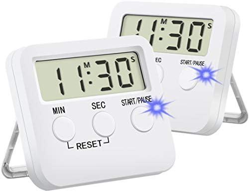 Kitchen Timer for Cooking Silent Timer for Kids Large Magnetic Digital Timers 2 Pack product image