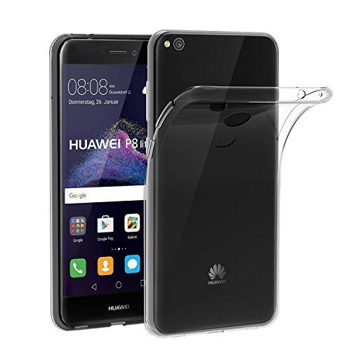 iVoler Hülle Kompatibel für Huawei P8 Lite 2017, Premium Transparent Klare Tasche Schutzhülle Weiche TPU Silikon Gel Schutzhülle Case Cover