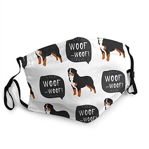 LREFON Gesichtsschutz Mundschutz Cover Berner Sennenhund Tier ki Tra Wiederverwendbarer Nasenschutz Waschbar staubdicht gegen Verschmutzung