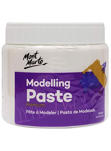 Mont Marte Pasta de Modelar 500ml – Blanca – Ideal para efectos...