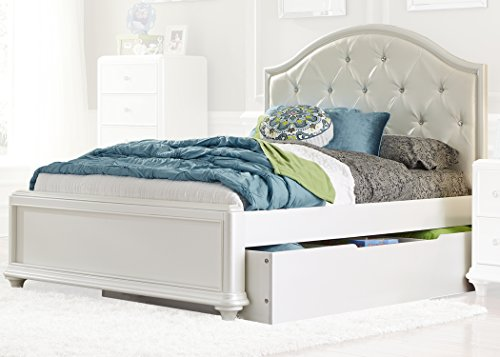 Liberty Furniture Industries Stardust Full Trundle Bed, 101' x 85' x 56', Iridescent White