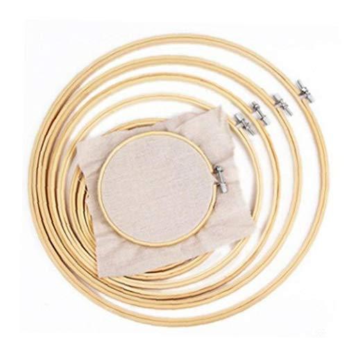 Zonfer 1pc Holzrahmen Hoop Kreis Bambus-Kreis-Kreuz-Stich-Band-Ring-Stickerei-rundmaschine Für Kreuzstich 28cm Small Size