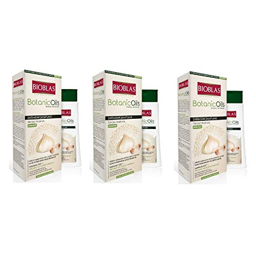3x360ml (1080ml) Bioblas Knoblauch Shampoo, Gegen Haarausfall