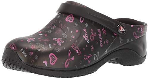 AnyWear Women's Zone Work Shoe, Love Hope Cure/Pink Ribbon Print, 8 M US