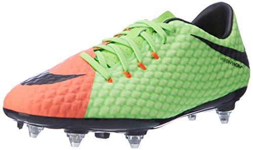Nike Herren Hypervenom Phelon III SG Fußballschuhe, Grün (Elctrc Green/Black-Hyper Orange-Volt), 40.5 EU