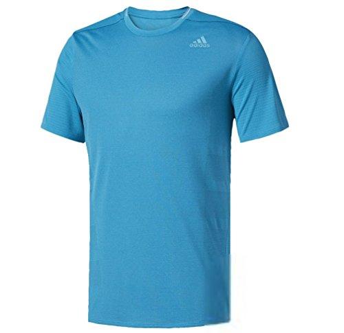 adidas Men's Running Supernova Short Sleeve Tee, Mystery Petrol, Small