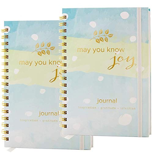 May You Know Joy : Seeds of Intention Spiral Mindfulness Journal : The Best Daily Journal to Cultivate Inspiration, Gratitude, Intention (Prompt Card Included, 2 Pack)