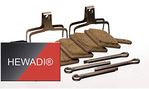 Bremsbeläge 2 x Shimano B01S Resin Bremse, Pads Scheibenbremsbelag Y8C998050 Fahrrad, E-Bike und sticker von HEWADI®