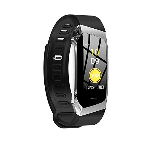 HX0945 E18 Smart-Band Cicret Fitness-Armband Farben-Screen-IP67 Wasserdicht Blutdruck-Sauerstoff-Puls-Monitor Für Männer Frauen,Silber