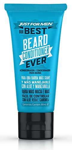 Just For Men, Acondicionador Barba, Deja la Barba Más Suave y Manejable con Aloe y manzanilla, 88 ml
