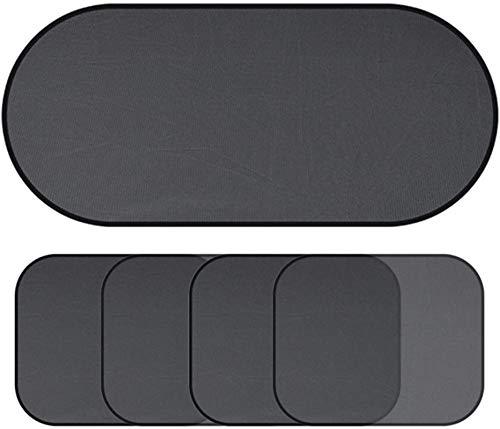 Pouitt 1/2/4/5 Hoja Universal Universal Coche WINDAY Shade UV Sun Visor Cortana DE LA Ventana AUTOMÁTICA MEMBRABA DE LA Ventana DE LA Ventana (Color : 5pcs)