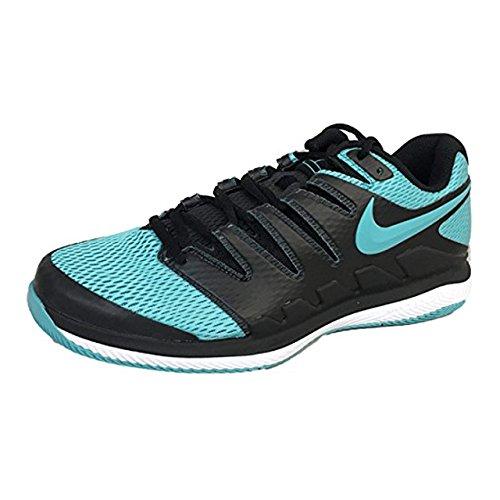 Nike Men's Zoom Vapor X Tennis Shoes (10.5 D US, Black/Gamma Blue/White)