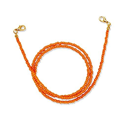 HAOLIOU Cadena de Gafas para Mujeres. Titular de la Gafas Ajustable Anti-perdido Beads Cadena Colgante Cuerda Collar Joyería (Color : Blue, Size : One Size)