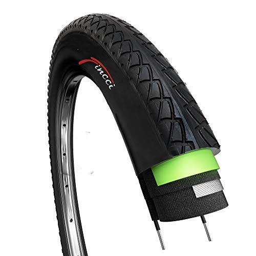 Fincci Slick por Carretera de Montaña Bicicleta Híbrida Neumático Cubiertas Lisas Ciclismo 26 x 1,95 54-559