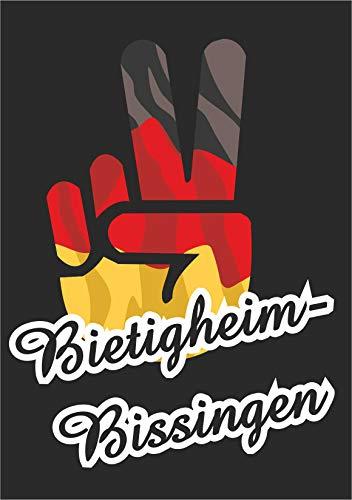 INDIGOS UG - Aufkleber - Autoaufkleber - Sticker - Deutschland - Stadt Bietigheim-Bissingen - ca. 10x8cm - Victory - Sieg - Heckscheibe, Kofferraum, Laptop, Fussball, Sport, Schule, Tuning