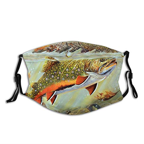 Unisex Face Mask Brook Trout Fly Fishing Protection Face Cover Scarf...