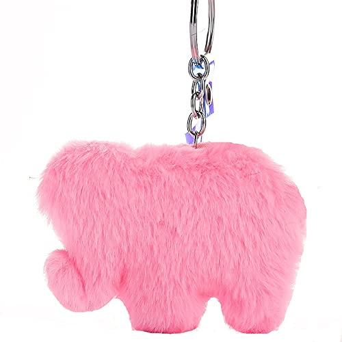 ZIYUYANG llavero, elefante animal llavero coche colgante joyería regalo rosa