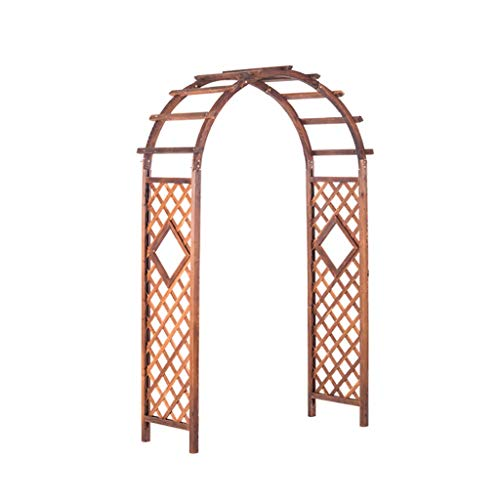 XCJJ Wooden Pergola Arbor,Arch with Planters,for Climbing Plants Bridal Party Decoration,A