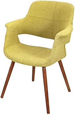 Amazon.com: Hebel Vintage Flair Mid-Century Modern Accent Chair ...