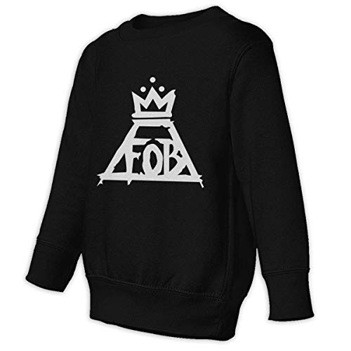 Mark Stars Fall-out Boy Rock Band Music Sudadera con Capucha Niño Niña Niño O Cuello Ocio(4T,Negro)