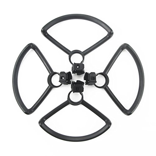 Rantow 4 Pieces Quick Release Propeller Guards for DJI Spark Drone Propeller Guard Bumper, No Tool Needed (Black)
