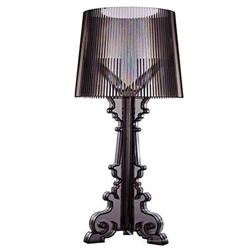Cakunmik Lámpara de Mesa Creativa lámpara de Mesa Transparente acrílico Lámpara de Noche de Cristal LED Adecuado para Estudio, Sala de Estar y decoración de Dormitorio,Negro