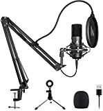 USB Microphone MAONO A04 Plus Cardioid Condenser Podcast Mic 192kHz/24bit Plug and Play