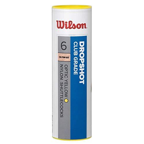Wilson Dropshot Volantes de bádminton Tubo de 3 Unidades, Unisex, Amarillo, 3 Piezas